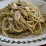 Spaghetti al pesto di carciofi: riciclo con gusto!!