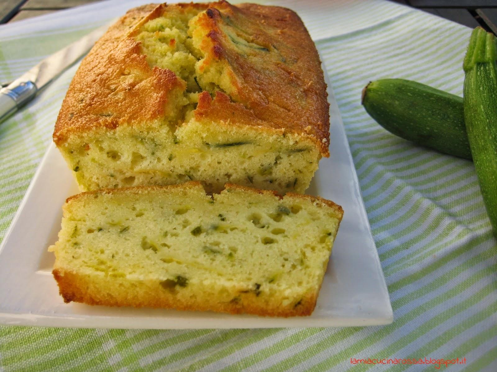 Plum-cake alle zucchine e limone