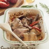 Coniglio al Sauternes e peperoni rossi