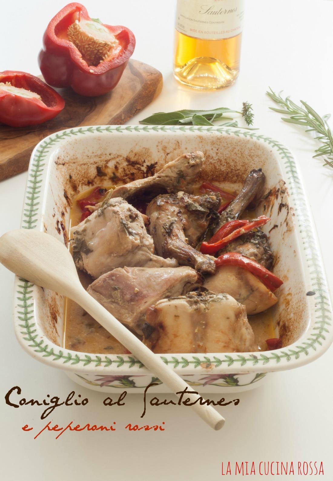 Coniglio al Sauternes e peperoni rossi1