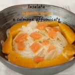 Insalata di finocchi, arance e salmone affumicato