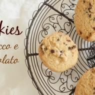 Cookies al cocco e cioccolata