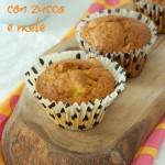 Muffin con zucca e mele