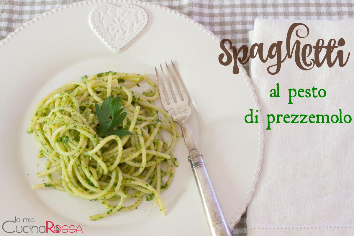 spaghetti al pesto di prezzemolo1
