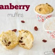Cranberry muffins per un sabato mattina da leoni!