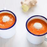 Crema fredda di carote e zenzero